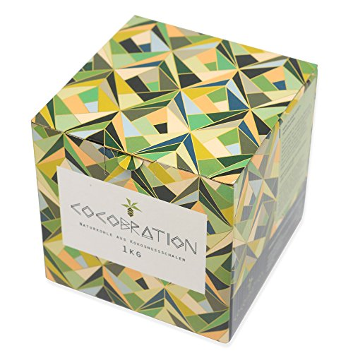 Cocobration 1Kg | Premium Shisha Kohle | 100% Kokosnuss | für Shisha & Grill