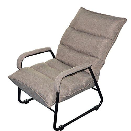 DEO Bureau d'ordinateur Sofa paresseux unique pliant déjeuner pause chaise Loisirs ordinateur chaise dortoir Lounge Chairs durable (Couleur : Gris)
