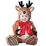 Bambino Natale Set di Abbigliamento, Pagliaccetto + Cappello + Scarpe Carino Partito Outfits