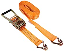Kerbl 37144 Ratchet Lashing Strap 2 Parts 50 mm x 6 m Maximum Load 4,000 kg Orange