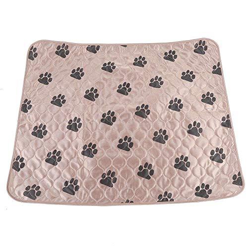 Smandy Hund Pee Pads Super saugfähige Hund Urin Mat Wiederverwendbare Hundetraining Matte Waschbare Fütterungsmatte Wurfmatte für Hunde Katzen(80 * 90cm-Braun) -