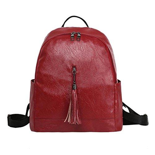 Backpack,Ba Zha  Women Leather Backpack Fashion Travel School Bag Shoulder Bags Satchel Handbag Fashion Zero Purse Bag Satchels Ladies Bags Sports Bag Soft Handle Hasp Travel Messenger Bag