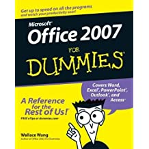 Microsoft Office 2007 For Dummies by Wang, Wallace (2006) Paperback