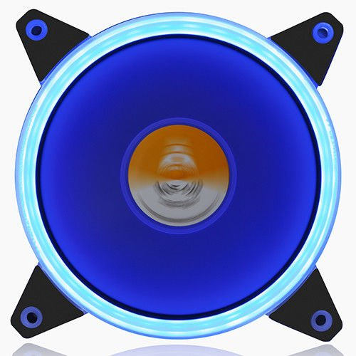 GOLDEN FIELD Solar Halo Ultra Quiet Lager 120mm LED Lüfter für PC Computer Desktop-Gehäuse CPU Kühler Blau (4-polig-computer Desktop-fan)