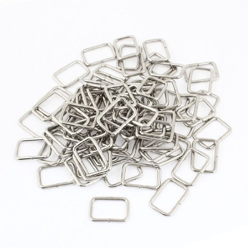 handbag-shoes-ornament-silver-tone-metal-rectangle-shape-buckle-101-pcs