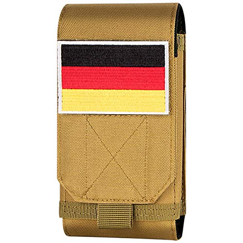 Xidan Taktische MOLLE Tasche, Große Schwerlast Molle Loop Gürteltasche Handy Flag Patch für iPhone XSmax/XR/XS/X/8P/8/7, Samsung Note9/8/5, Galaxy S9+/S9/S8+/S8/S7 und andere -