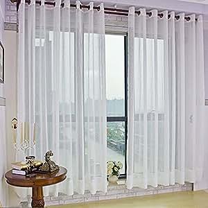 Kinlo tende con occhielli 135 x 245 cm tende tendaggi - Tenda moderna soggiorno ...