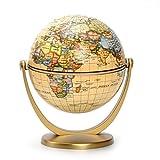 ESTAMICO Politisch Antik Ozean Drehen und Neigen Mini Welt Globus, 10 CM
