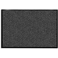 casa pura Tapis d'entrée anthracite-noir   très absorbant + lavable   plusieurs tailles au choix - 90x120cm