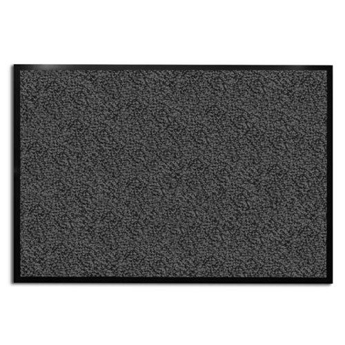 casa pura Tapis d'entrée anthracite-noir | très absorbant + lavable | plusieurs tailles au choix - 120x300cm