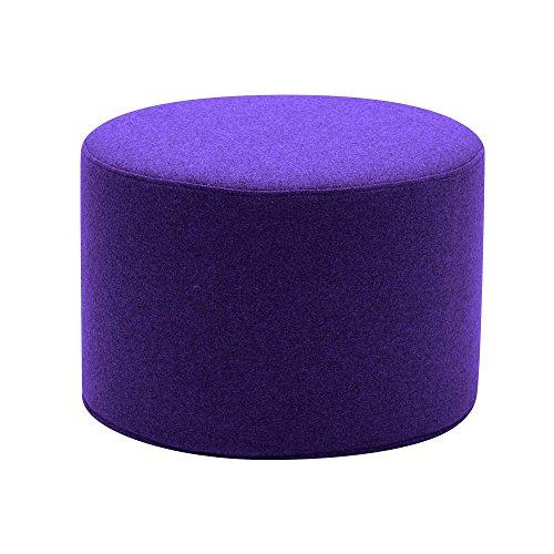 Softline Drum Hocker/Beistelltisch S, violett Stoff Felt 581 H 30cm Ø 45cm
