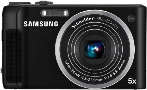 Samsung WB2000 Digitalkamera (10 Megapixel, 24mm Weitwinkel, 5x optischer Zoom, Dual IS, HD-Video, HDMI, 7,6 cm (3 Zoll) Display) schwarz