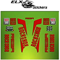 "Pegatinas HORQUILLA ROCK SHOX REBA 2016 ELX20 STICKERS AUFKLEBER AUTOCOLLANT ADESIVI BICICLETA CYCLE MTB BIKE 29"" (ROJO/ RED)"