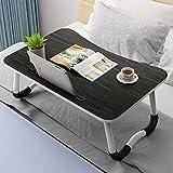 LJHA Bett-Laptoptisch, faltbarer Schlafzimmertisch-Spielemagazin zum Frühstückstisch Tabelle (Farbe : 2, größe : 60 * 40 * 28cm)