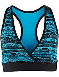 Zumba Fitness Peace Love-n-mid-level Soutien-gorge col V Femme