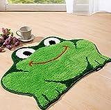 tfxwerws Lovely rutschfeste Boden Fußmatte für Badezimmer decors- grün Frosch