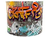 Graffiti Lampshade or Ceiling Light Shade 10 Inch Drum shade Boys Girls Teens Grafitti Urban Hip Hop Skate Park Skateboard Themed Room Bedroom Accessories