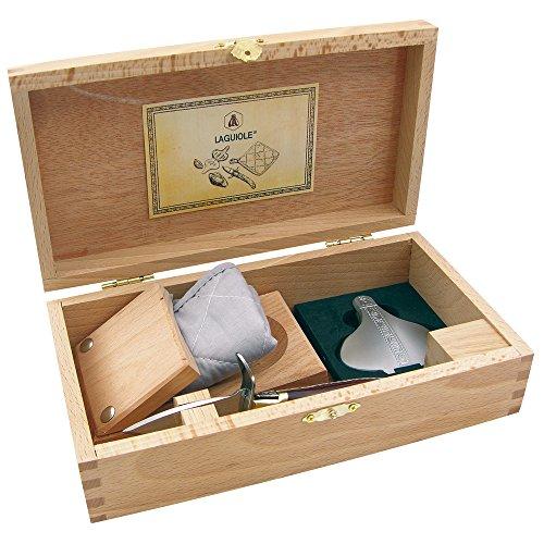 Laguiole 16149–set oyster truyere di posate, coltello per ostriche, acciaio inox, argento, 15x 8x 6cm