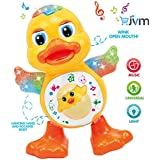 JVM Dancing Duck Toy With Real Dancing Action & Music Flashing Lights, Multi Color
