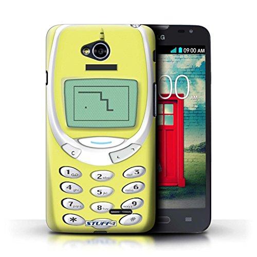 Coque de Stuff4 / Coque pour LG L70/D320 / Nokia 8210 noir Design / Portables rétro Collection Nokia 3310 jaune