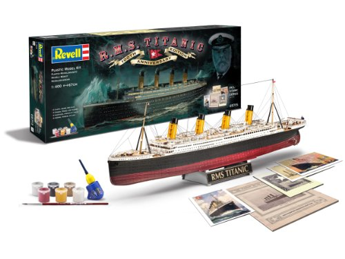 Revell- Control 1/400 Gift Set 100 Years Titanic Special Edit, Colore Grigio, RV05715