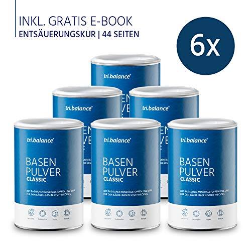 tri.balance Basenpulver Classic 300 g - 6er Pack inkl. E-Book Entsäuerungskur I Zum Säure-Basen-Ausgleich I Ideal bei Sport - Diät - Basenfasten