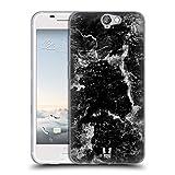 Head Case Designs Schwarz Marmor Drucke Soft Gel Hülle für HTC One A9