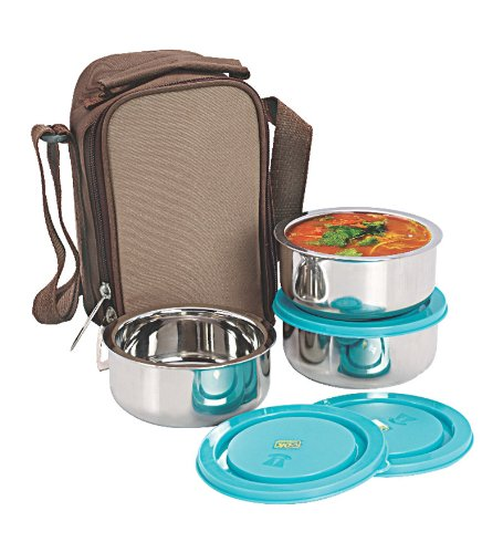 NanoNine Insulated 3pc Junior Lunch Box SS070