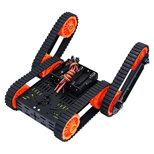 WYY RC Obstacle Avoidance Robot Kit Telaio, Cingolati Serbatoio di Smart Auto, Programmazione DIY Maker Giocattoli Educativi