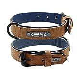 Collar de jalea Collar de perro de cuero Juego de correa Juego personalizado personalizado Collares de perros Correa de perro de cuero de 2 capas Para perros pequeños, medianos, grandes Pitbull, Colla