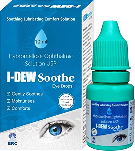 I-Dew Soothe Daytime Eye Drops for Dry Eyes, Massive 50% Spring/Summer Discount, Preservative-Free, Eye Drops for Contact Lens Users and Red Eyes