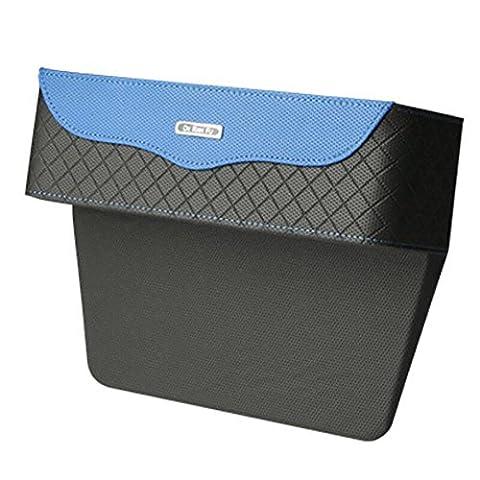 HuanLeBao Car Items Aufbewahrungsbox Stitching Leder Sitz Slot Set Box Riesen Hose Muster Wasser Cup Halter Aufbewahrungsbox , Blue (Riesen Licht-sets)
