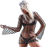 Malloom Femme maillot de bain bikini plage sexy smock (XL, Noir)...