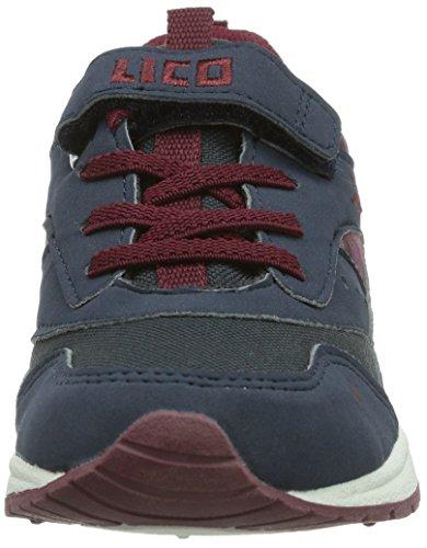 Lico Cool VS Blinky Mädchen Sneakers Blau (marine/bordeaux)