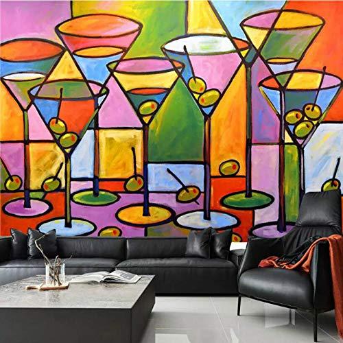 Nach Maß Wein Glas Saft Dekorative Malerei 3D Wallpaper Für Wände 3D Stereoscopic Wall Murals Wallpaper