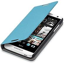 kwmobile Funda para HTC Desire 610 - Flip cover para móvil - Cover plegable en azul claro
