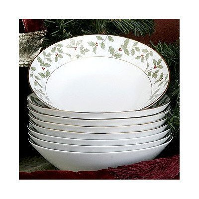 Noritake Holly and Berry Gold Soup Bowls, Set of 8 by Noritake CO., INC. - DROPSHIP Gold Berry Bowl