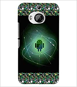 PrintDhaba Android D-2511 Back Case Cover for HTC ONE M9 PLUS (Multi-Coloured)