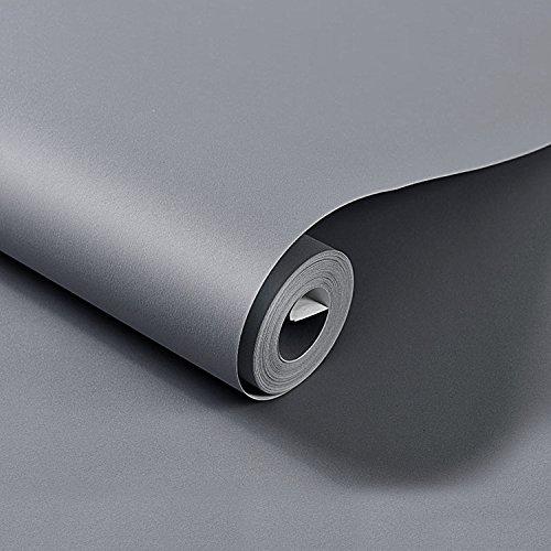 HOMFA Tapete Selbstklebend in Betonoptik graue Tapete moderne Tapete Wand Dekoration abwaschbar aus PVC für Wohnzimmer Schlafzimmer Küchen Cafe 10M*41 CM