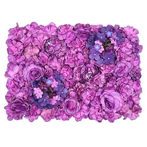 Hortensie Blüte Wandpaneele Gefälschte Blumen Wand Dekor für Kulisse,Hochzeit,Party,Zuhause & Büro Dekoration - Lila ()