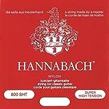 Hannabach 652397 Série 800 Cordes pour Guitare Classique Super High Tension Argenté