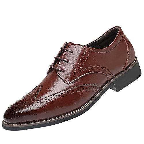 MOIKA Herrenschuhe, Klassischer Stil Herren atmungsaktive Hohle Business Casual Spitze Schuhe