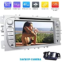Backup Camera Included!7' Capacitive Touch Screen Android 7.1 Navigation System Support DVD CD Player in 1080P Video Compatible with Ford Focus 2009-2012 Support Autoradio Bluetooth FM AM RDS WIFI Easy Connection