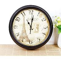 COLLECTOR Inglese continentale da parete orologio orologio creative home café Orologio a parete singola facciata decorata Jong-forme circolari Torre Eiffel