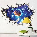 ZLYAYA Tapete,Wandtapete,Wand Dekoration,wandsticker,Wall Sticker space planet Schlafzimmer Wohnzimmer Decke pvc Abnehmbare 60 * 90 cm.