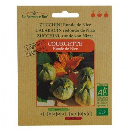 Graines Bio - Courgette Ronde de Nice - semence biologique