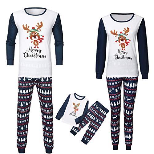 Weihnachten Familie Pyjamas Outfit Set Christmas Pyjama Schlafanzug Briefdruck Weihnachts Pyjama Nachtwäsche Homewear für Mama Dad Kinder Baby Weihnachten Bekleidungssets