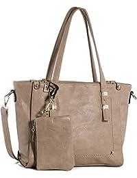 Handtasche In Angel Umhängetasche Damen Henkeltasche Tote PU Leder Schultertasche Damen Tasche Crossbody Handtasche für Frauen (L30cm * W12cm * H26cm)