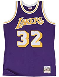 Magic Johnson Los Angeles Lakers Mitchell & Ness NBA Throwback Hwc morado Jersey - 353J-