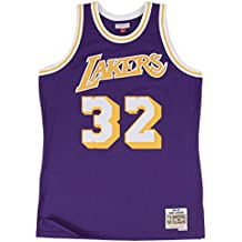 Mitchell & Ness Magic Johnson Los Angeles Lakers NBA Throwback HWC Morado Jersey - 353J-
